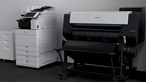 Blueprint printers architect engineer contractor canon imageprograf tx 3000 in an office setting malvernweather Image collections