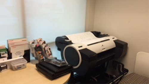 Canon imagePROGRAF iPF680 in a small office