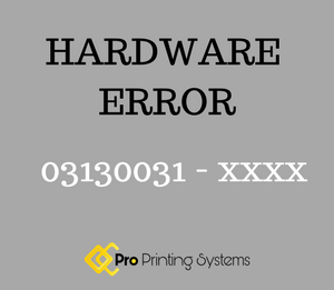 Hardware error 03130031 graphic