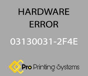 simulated screen image of hardware error 03130031-2F4E